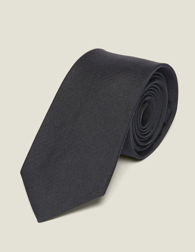 Cravatta Classica In Twill Di Seta : Cravatte & Papillon colore Blu Marino