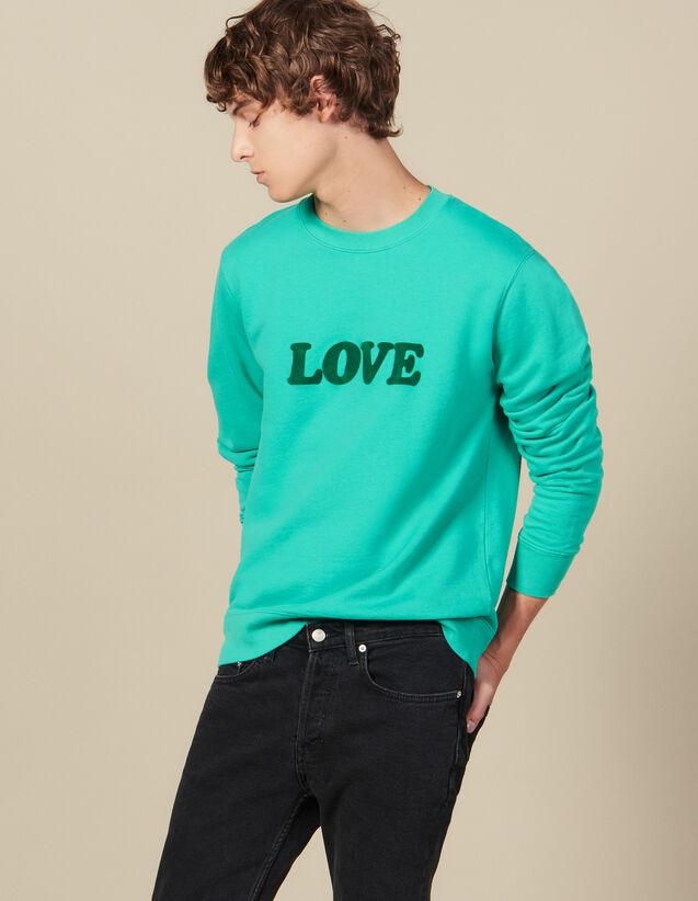 Sweat À Message : HCollectionHiver couleur Vert D'Eau