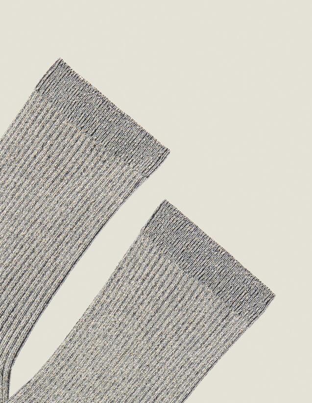 Chaussettes Lurex : Chaussettes couleur Argent