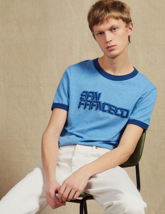 T-Shirt À Message : LastChance-FR-H40 couleur Bleu Ciel