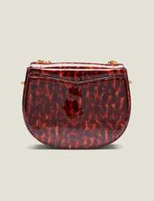 Borsa Pépita Piccola In Pelle Verniciata : Tutti gli Accessori colore Leopard orange