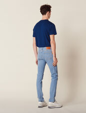Jeans Délavé Linea Slim : Sélection Last Chance colore Blue Vintage - Denim