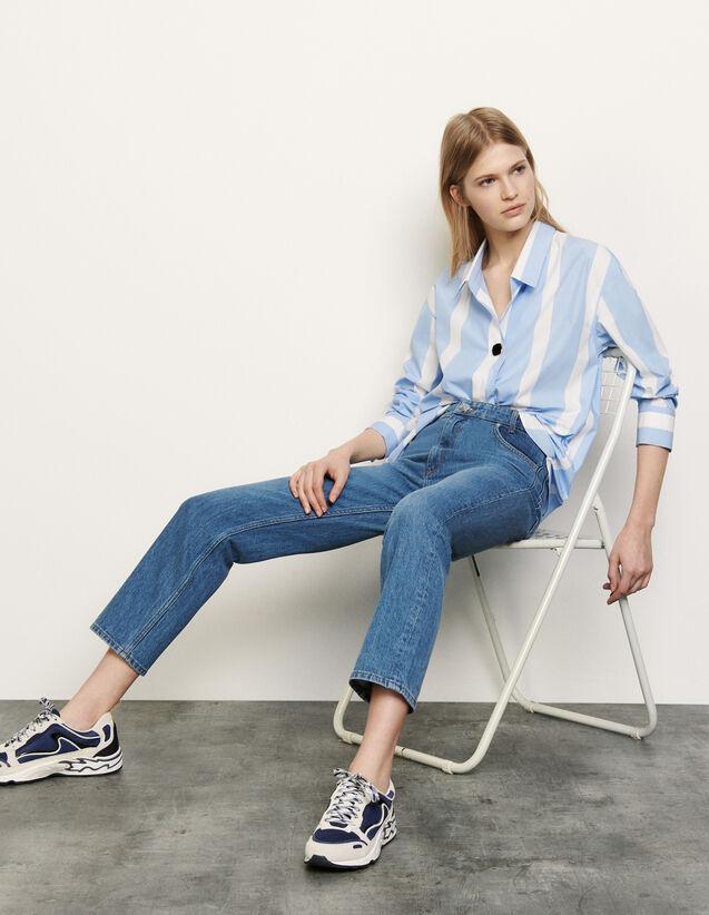 Camicia a righe oversize : Top & Camicie colore Ciel