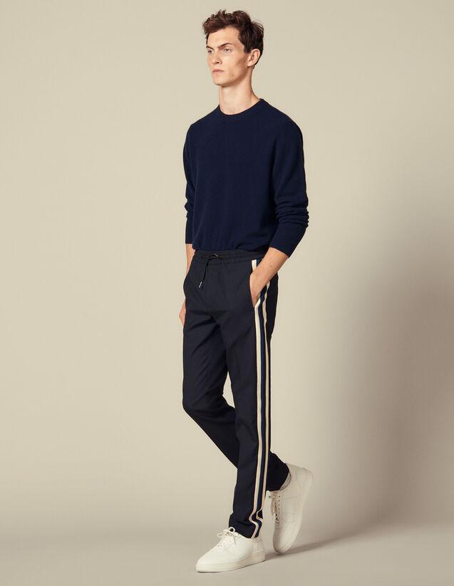 Pantalon De Ville À Galon Sur Les Côtés : Pantalons & Shorts couleur Marine
