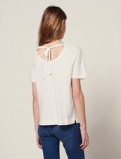 T-Shirt Con Pettino Plissettato : null colore Bianco