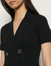 Abito stile tailleur in maglia : Abiti colore Nero