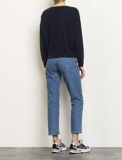 Pullover in lana e cashmere : Maglieria & Cardigan colore Blu Marino