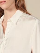 Camicia Fluida Con Polsini Alti : Top & Camicie colore Ecru
