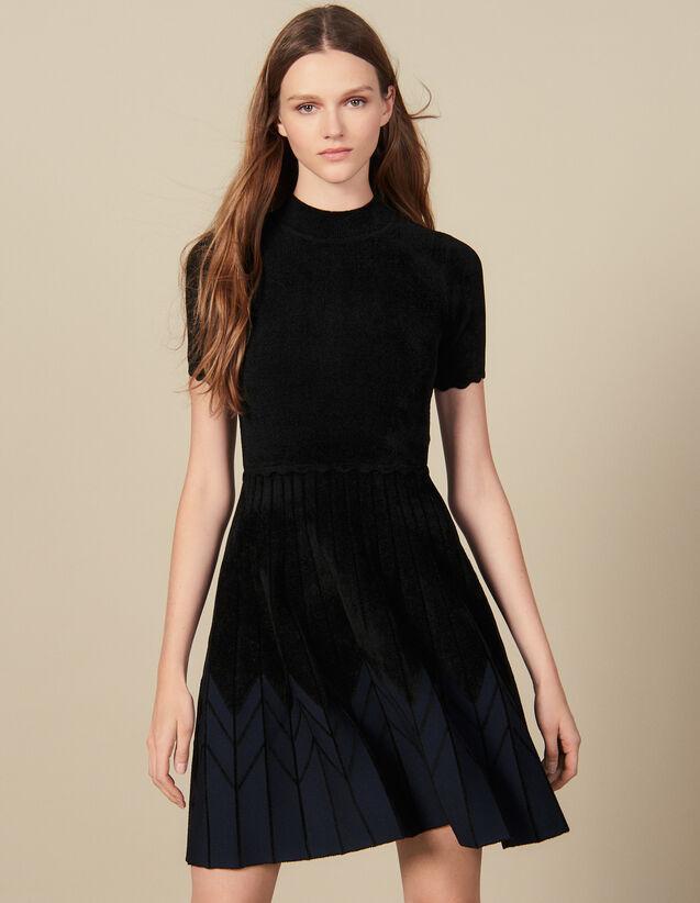 Robe En Maille Courte : Robes couleur Noir