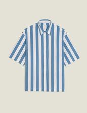 Camicia Casual A Righe Con Maniche Corte : LastChance-CH-HSelection-Pap&Access colore Blu
