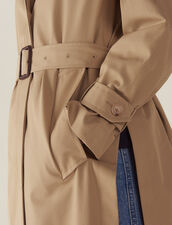 Cappotto Stile Trench Con Cintura : null colore Beige