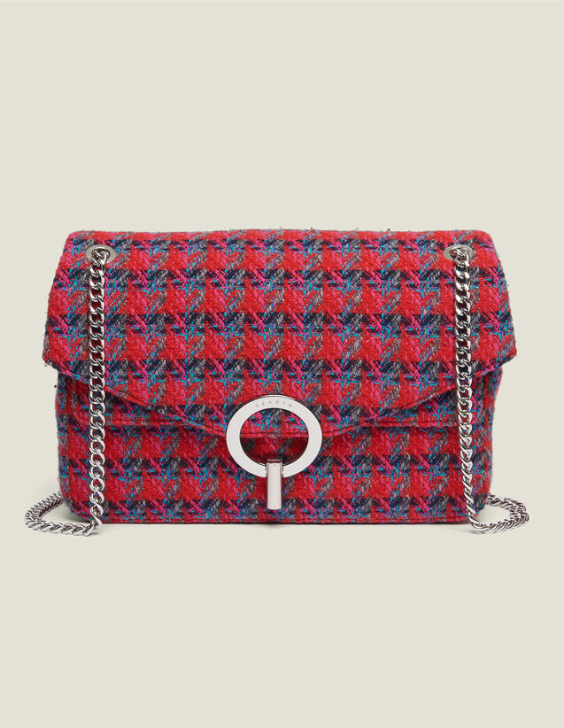 Sac Yza en tweed : FCollection-Hiver-Acc couleur Rouge