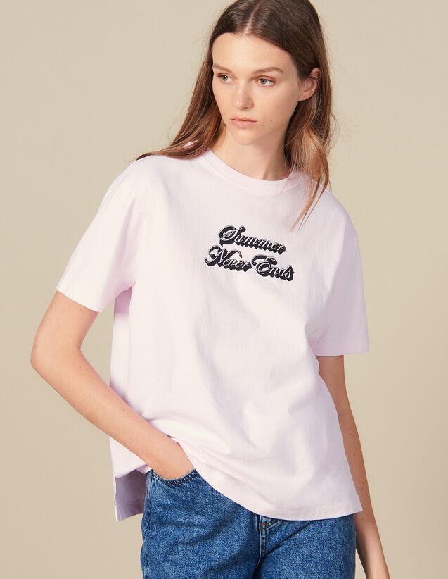 T-Shirt Con Scritta : Magliette colore Rosa