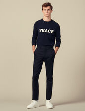 Pantaloni Slim Stretch : Pantaloni & Short colore Blu Marino