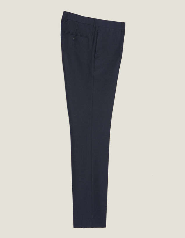 Pantaloni Da Completo In Lana Panama : LastChance-CH-HSelection-Pap&Access colore Blu Marino