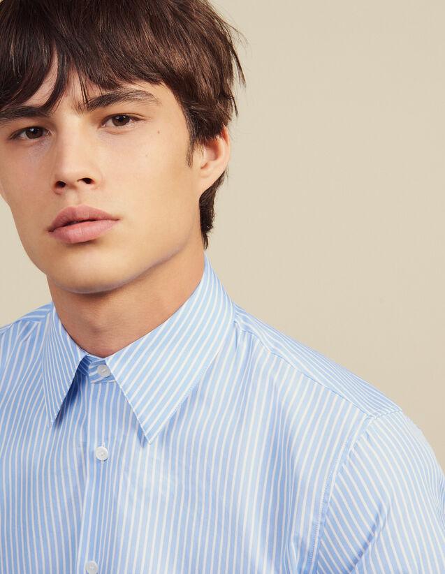 Camicia Formale In Cotone A Righe : Camicie colore Sky Blue