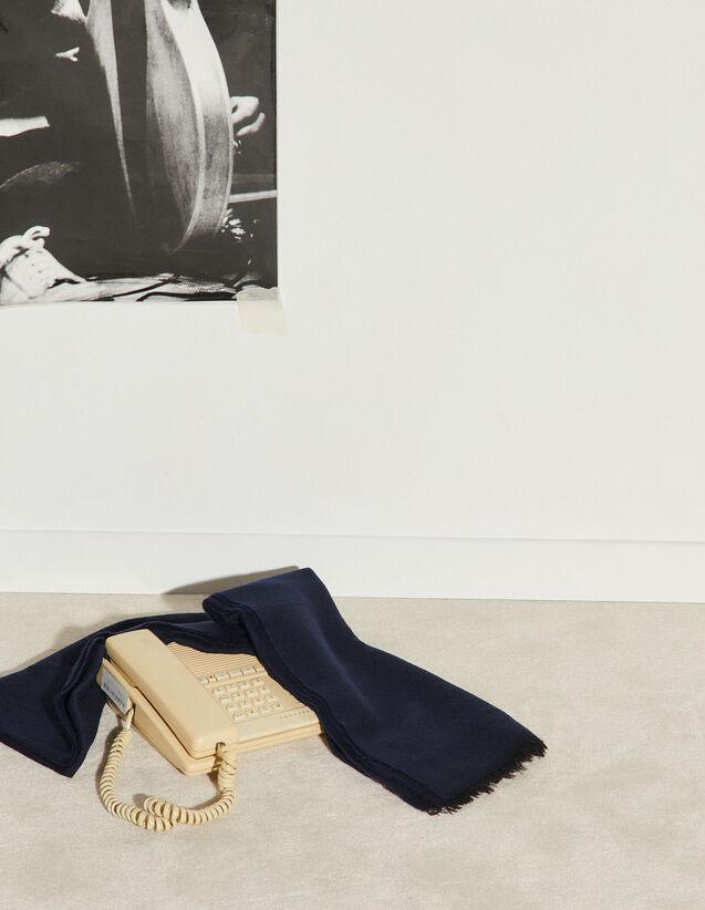Sciarpa bicolore reversibile : Sciarpe colore Nero