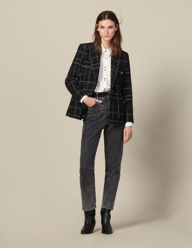Giacca da tailleur in tweed : LastChance-UK-FSelection-PAP&ACCESS colore Nero