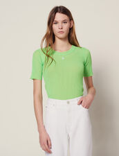 T-Shirt Fluo In Maglia : null colore Vert fluo
