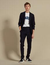 Sneaker in pelle : HAnciennesCollections colore Blu Marino
