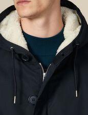 Parka en coton doublé en faux mouton : LastChance-IT-H50 couleur Marine