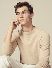 Pullover Raglan Chiné : Maglioni & Cardigan colore Cammello