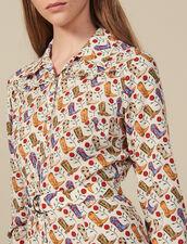 Abito A Camicia Con Stampa Stivali : Abiti colore Multicolore