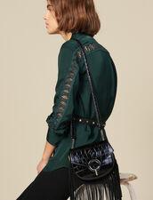 Camicia Con Inserto In Pizzo : Top & Camicie colore Verde