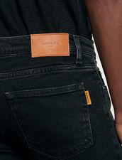 Jean noir - Coupe skinny : Jeans couleur Black - Denim