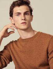 Pullover in cashmere : Maglioni & Cardigan colore Cammello Scuro