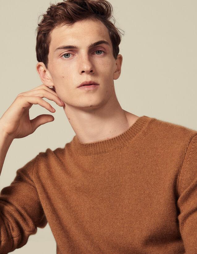 Pull en cachemire : Pulls & Cardigans couleur Camel Foncé