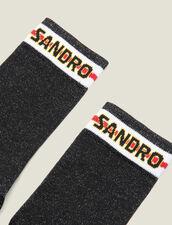 Calzini In Lurex Con Logo Sandro : L'intera collezione Invernale colore Nero
