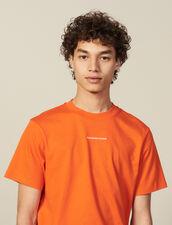 T-shirt in cotone biologico : Polo colore Arancio