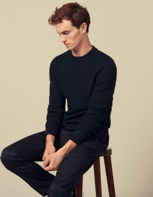 Pullover A Punti Fantasia : Maglioni & Cardigan colore Vert foncé