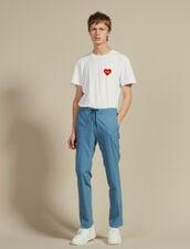 Pantaloni Da Città Con Cordoncino : Sélection Last Chance colore Blu acciaio