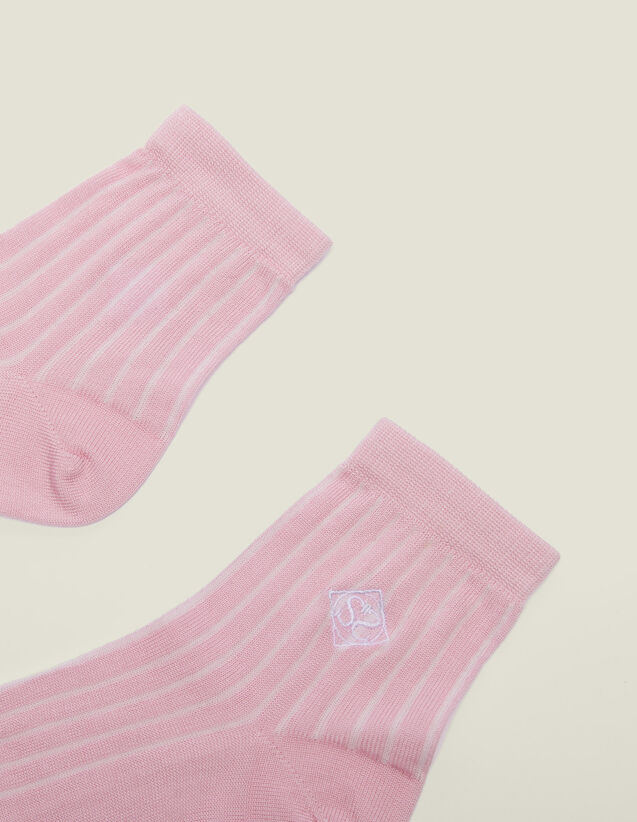 Camicia Stampata A Maniche Corte : Calze colore Rose pastel