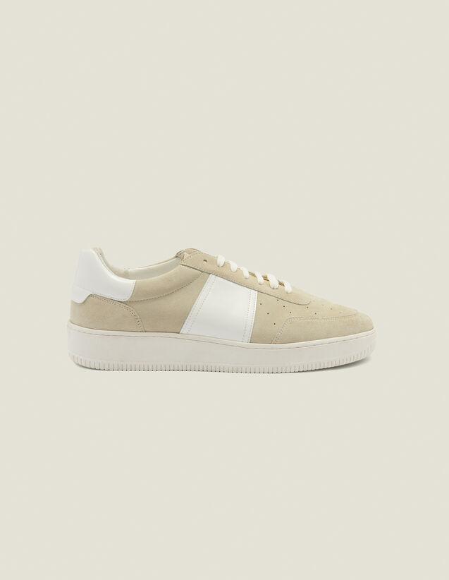 Baskets en cuir : Chaussures couleur Ecru