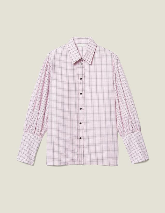 Camicia In Popeline A Quadretti : LastChance-ES-F50 colore Rosa