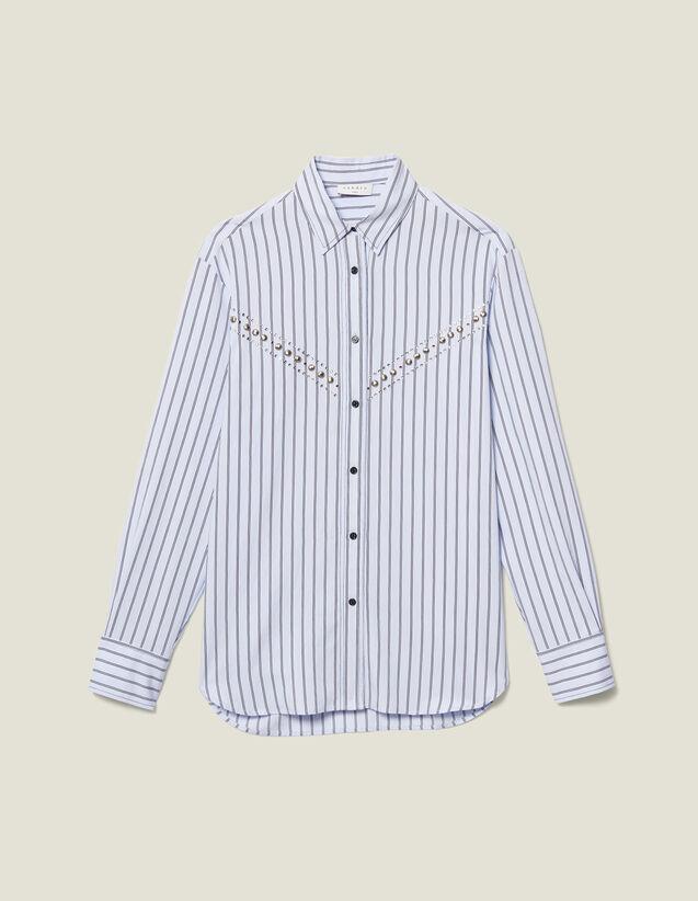 Camicia In Popeline A Righe : LastChance-ES-F50 colore Ciel