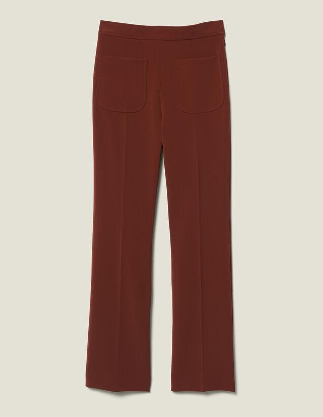 Pantalon de tailleur évasé : Pantalons couleur Tabac