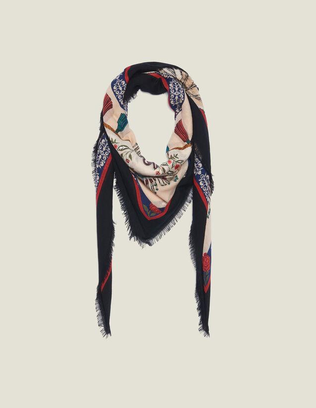 Foulard In Lana Stampata : Collezione Estiva colore Multicolore
