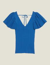 Top Aderente In Maglia : null colore Blu