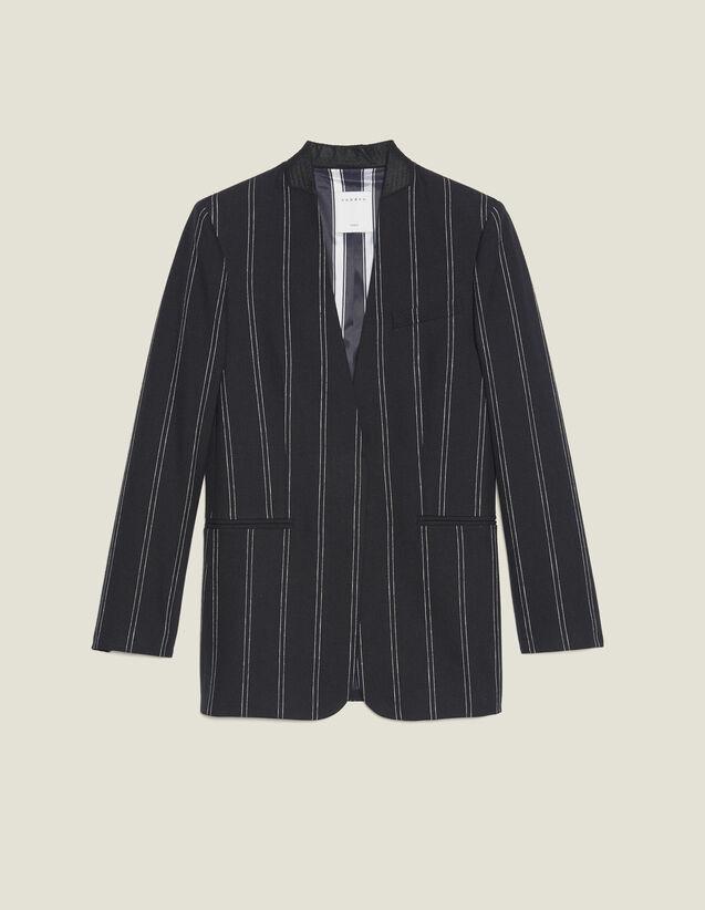 Veste De Blazer Rayée Assortie : LastChance-FR-FSelection couleur Noir