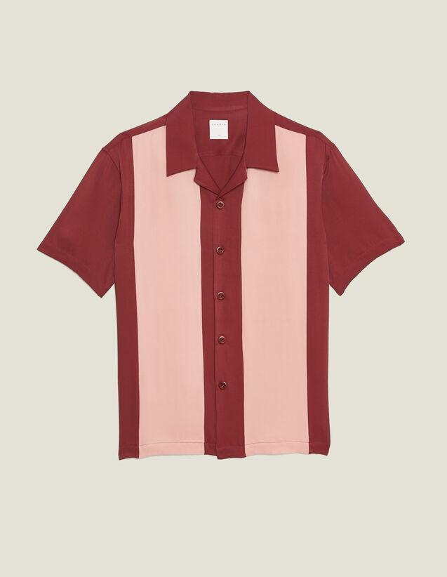 Camicia Fluida A Maniche Corte : LastChance-RE-HSelection-Pap&Access colore Bordeaux