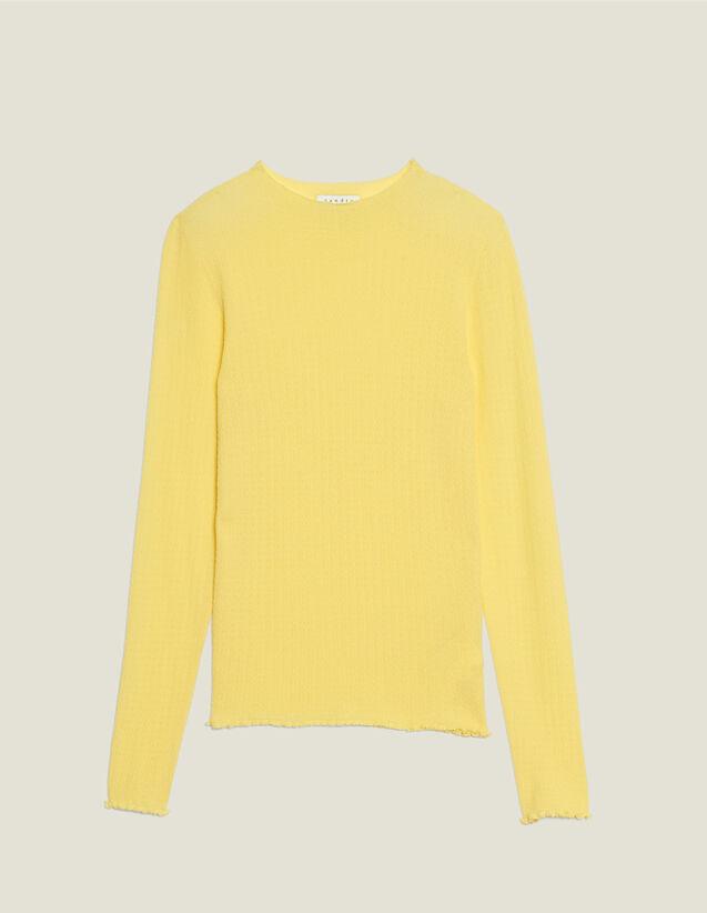 Pull En Maille Fine : LastChance-FR-FSelection couleur Jaune