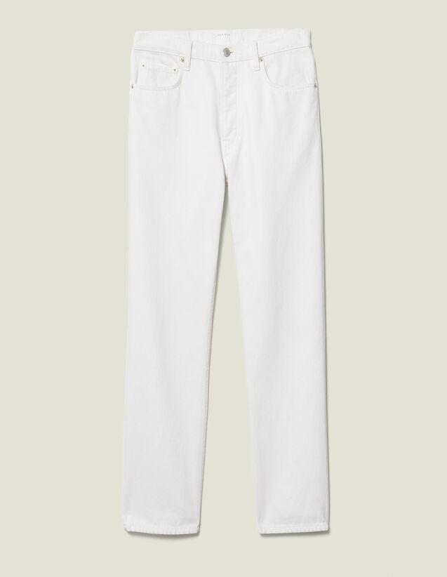 Jeans Slim In Cotone : Nuova Collezione colore Bianco