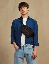 Camicia in tessuto chevron tono su tono : -40% colore Blu
