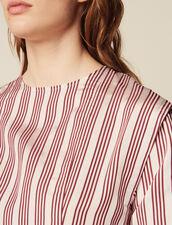 Top A Maniche Lunghe A Righe : Camicia stampata colore Bordeaux