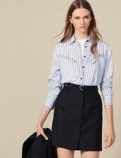 Giacca Da Tailleur Corta A Righe Sottili : FBlackFriday-FR-FSelection-Jupes&Shorts colore Nero