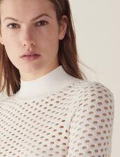 Pullover A Maniche Lunghe In Rete : null colore Bianco